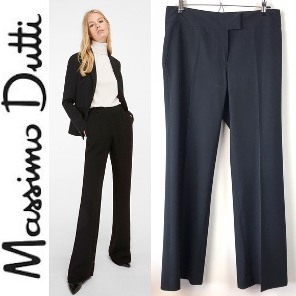 full range of specifications variety styles of 2019 store ❤️ Massimo Dutti Wide Leg Pants Trousers Slacks 42